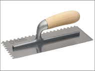 Faithfull FAI822 - 822 Adhesive Trowel Serrated Edge 6mm Wooden Handle 280 x 120mm (11in x 4.3/4in)