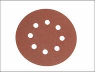Faithfull FAIAD12580H - Aluminium Oxide Disc DID3 Holed 125mm 80g (Pack of 25)