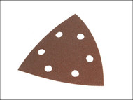 Faithfull FAIADSSMF - Delta Hook & Loop Sanding Sheets TR2 93mm Medium Fine (Pack of 5)
