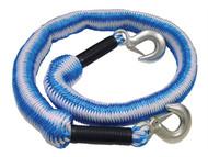 Faithfull FAIAUTRELAST - Tow Rope Expanding 4m Metal Hooks 3 Tonnes