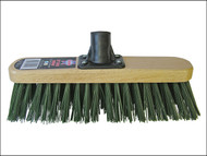 Faithfull FAIBRSTIF12R - Broom Head Stiff Green 300mm (12in) Threaded Socket
