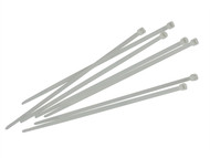 Faithfull FAICT250W - Cable Ties White 250mm x 4.8mm Pack of 100