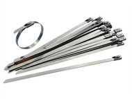 Faithfull FAICT29046SS - Stainless Steel Cable Ties 4.6 x 290mm (Pack of 50)