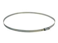 Faithfull FAIHC125B - 12.5 Hose Clip - Zinc MSZP 286 - 318mm