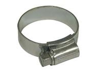 Faithfull FAIHC1XB - 1X Hose Clip - Zinc MSZP 30 - 40mm
