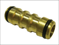Faithfull FAIHOSEJOIN - Brass Two Way Hose Coupling 12.5mm (1/2in)