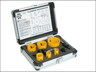 Faithfull FAIHSKP - Holesaw Kit Set of 9 Plumbers 19-57mm