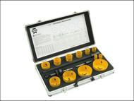 Faithfull FAIHSKU - Holesaw Kit Set of 16 Universal 16-76mm