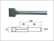 Faithfull FAIKAGSC75 - Scaling Chisel Straight 300x75mm Kango Shank