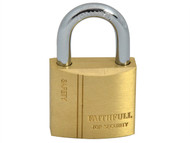 Faithfull FAIPLB30 - Brass Padlock 30mm 3 Keys