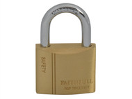 Faithfull FAIPLB40 - Brass Padlock 40mm 3 Keys
