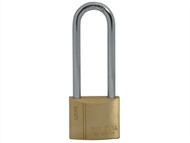 Faithfull FAIPLB40LS - Brass Padlock 40mm Long Shackle 3 Keys