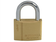 Faithfull FAIPLB50 - Brass Padlock 50mm 3 Keys