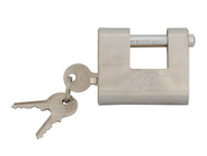 Faithfull FAIPLB60SHUT - Brass Shutter Padlock 60mm