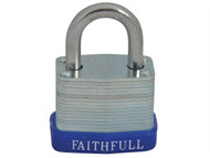 Faithfull FAIPLLAM30 - Laminated Steel Padlock 30mm 3 Keys