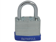 Faithfull FAIPLLAM40 - Laminated Steel Padlock 40mm 3 Keys