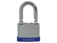 Faithfull FAIPLLAM50 - Laminated Steel Padlock 50mm 3 Keys