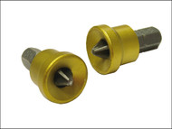 Faithfull FAISBPH2DW - Drywall Screwdriver Adaptor + Bits (2) Ph2