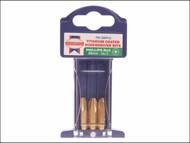 Faithfull FAISBPH3 - Phillips No.3 Titanium Screwdriver Bits x 25mm (Pack of 3)