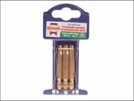 Faithfull FAISBPH3M - Phillips No.3 Titanium Screwdriver Bits x 50mm (Pack of 3)