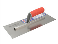 Faithfull FAISGFT13PW - Pre-Worn Plasterers Finishing Trowel Soft Grip Handle 13in x 5in