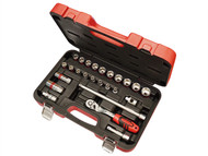Faithfull FAISOC3825M - Socket Set of 25 Metric 3/8in Square Drive