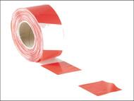Faithfull FAITAPEBARRW - Barrier Tape 70mm x 500m Red & White