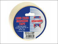 Faithfull FAITAPELTM50 - Low Tack Masking Tape 50mm x 50m