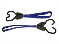 Faithfull FAITDBUNG18 - Flat Bungee Cord 46cm (18in) Blue 2 Piece