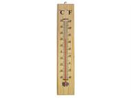 Faithfull FAITHWOODLG - Thermometer Wall Wood 400mm