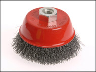 Faithfull FAIWBC75S - Wire Cup Brush 75mm x M14 x 2 Stainless Steel 0.30mm