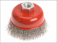 Faithfull FAIWBC80S - Wire Cup Brush 80mm x M14 x 2 Stainless Steel 0.30mm