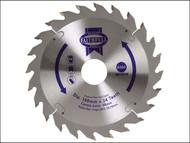 Faithfull FAIZ16024 - Circular Saw Blade 160 x 30mm x 24T Fast Rip