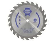 Faithfull FAIZ16524C - Trim Saw Blade 165 x 10mm x 24T Fast Rip