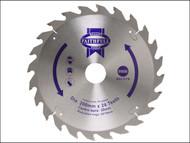 Faithfull FAIZ20024 - Circular Saw Blade 200 x 16/25/30mm x 24T Fast Rip