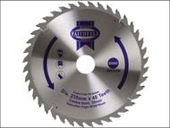 Faithfull FAIZ23540 - Circular Saw Blade TCT 235 x 16/20/30/35mm x 40T Fine Cross Cut