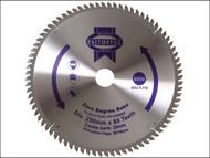 Faithfull FAIZ25080Z - Circular Saw Blade 250 x 16/25/30mm x 80T Zero Degree
