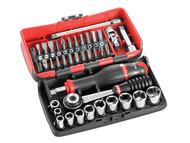 Facom FCMR2NANO - R2NANO Socket Set of 38 Metric 1/4in Drive