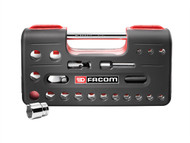 Facom FCMSLDBOX1 - 1/2in Std 6 Pt Socket Set of 21 1/2in Drive