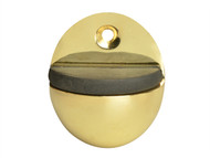 Forge FGEDSOVALBR - Oval Door Stop Brass Finish 40mm