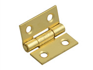 Forge FGEHNGBTBP25 - Butt Hinge Brass Finish 25mm (1in) Pack of 2