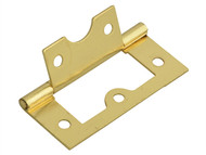 Forge FGEHNGFLBP60 - Flush Hinge Brass Finish 60mm (2.5in)Pack of 2