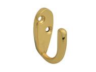 Forge FGEHOOKRBBR - Robe Hook - Brass Finish 40mm Pack of 2