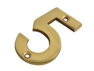 Forge FGENUM5BR75 - Numeral No.5 - Brass Finish 75mm (3in)