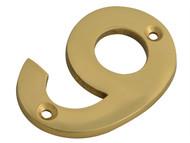 Forge FGENUM9BR75 - Numeral No.9 - Brass Finish 75mm (3in)