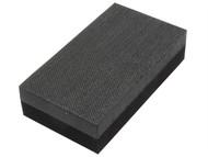 Flexipads World Class FLE56006 - Hand Sanding Block Double Sided Medium/Hard 70 x 125mm