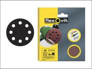 Flexovit FLV26386 - Hook & Loop Sanding Discs 115mm Fine 120g (Pack of 6)