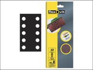 Flexovit FLV26498 - 1/2 Sanding Sheets(115 x 280mm Perforated Coarse 50g (10)