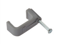 Forgefix FORFCC10G - Cable Clip Flat Grey 10.00mm Box 100