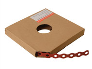 Forgefix FORPCBR17 - Red Plastic Coated Pre-Galvanised Band 17mm x 0.8 x 10m Box 1